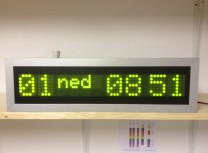 Led date clocks
